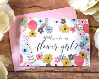 Will You Be My FLOWER GIRL Card, Flower Girl Card, Flower Girl Gift, Flower Girl Proposal, Flower Girl Box, Flower Girl Bag, Ask Flower Girl