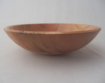 Decorative Wooden Bowl Cherry Worm Holes Hand Turned