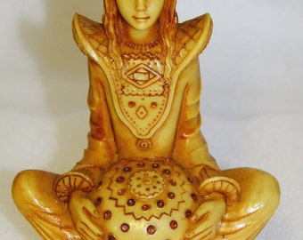 Asian Statue Goddess Tarra or Quan YIN oriental figurine female Buddha Tarra for protection and wealth Feng Shui Statue Tibetan God
