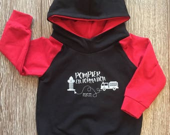 BALANCE-to-go hooded sweater for baby and child, fireman in training