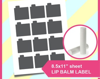 "Instant Download Lip Balm Template, PSD, PNG and SVG Formats,  8.5x11"" sheet,  Printable 086"