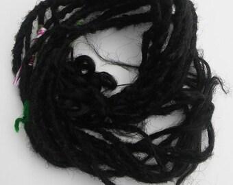 Thin Long Single Ended Synthetic Dreadlock Extensions / Dread wrap Long Dreads black dreadlocks / thin long dread Extensions MYHAIRANDSTUFF