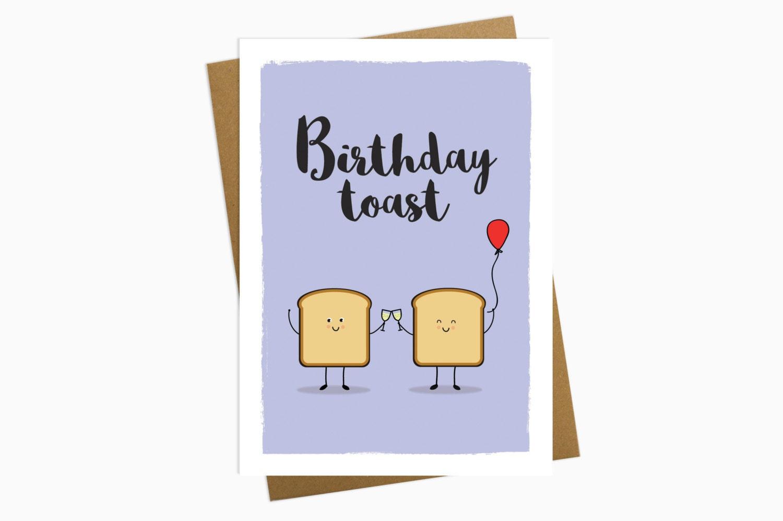 birthday toast greetings card birthday card birthday