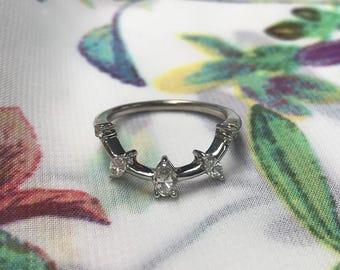14k Stack Diamond .68 Carat Stack Ring size 6.25
