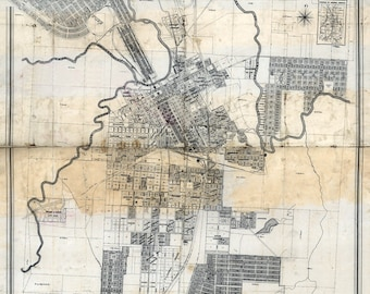 1880 Map of Fort Worth Texas