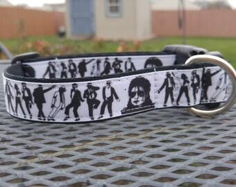 Michael Jackson inspired dog collar
