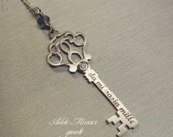 Key dedicated key necklace 925 sterling silver neklace inspired gift box free * Scottish *