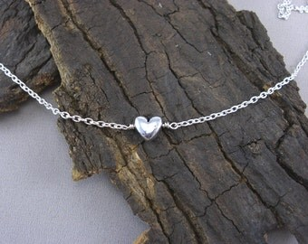 Necklace necklace Heart Necklace-silver