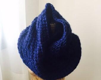 Scarf , New Infinity Scarf , Blue Infinity Scarf  , Oversized Blue Infinity Scarf , Blue Scarf