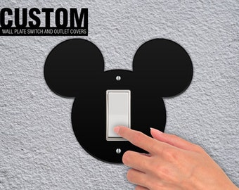 Mickey Head Wall Switchplate and Outlet Plate Cover