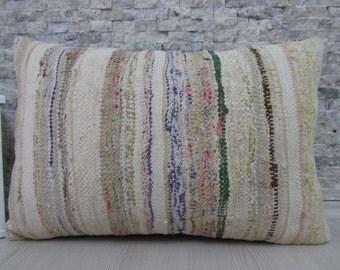 Anatolian Turkish Kilim Pillow Handmade Turkish Kilim Pillow 16 x 24 Decorative Pillow Kilim Cushion Bohemian Pillow Kilim Rug