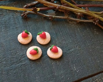 Handmade Miniature Strawberry Tarts