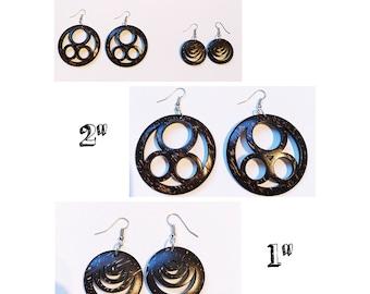 Coconut Earrings - Coconut Round Earrings - Coconut Dangle Earrings
