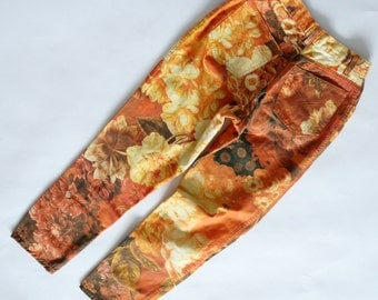 Moschino Jeans vintage floral denim jeans pants