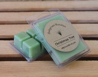 Christmas Tree Wax Melts - Soy Blend Wax - Wax Cubes - Wax Tarts - Hand Poured - Gift Idea