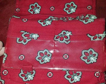 Red Bandana Vera Bradley large 7.5 by 5 wallet! Great condition!