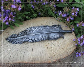 Hand Forged Angel feather.