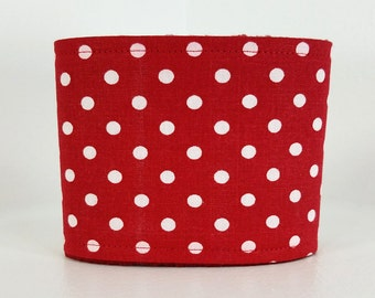 Male Dog Belly band - dog diaper - Potty training aid - house breaking - incontinence wrap - Red Polka dots - READY TO SHIP