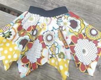 Girls Pixie Skirts. Custom Made to Sizes 6 months to 6 years.