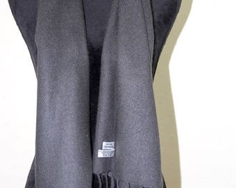 Pure Cashmere Scarf Mens/Ladies 100% Grade A High Quality Cashmere Scarf Soft Warm and Delicate Scarf Fringed
