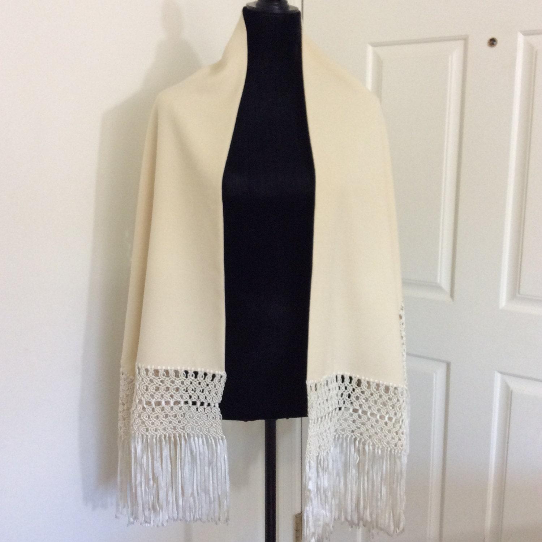 Vintage Wool Shawl 69