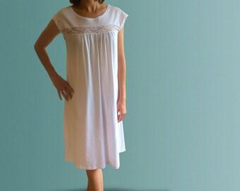 Mornington Organic Cotton Nightgown - White