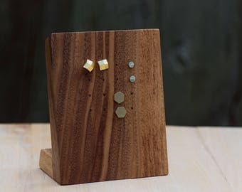 Wooden Earring Display Stand / Stud Earring Display / Necklace Display / Earring Organizer