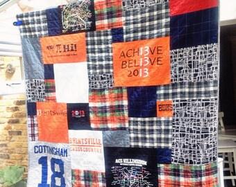 Custom Tee Shirt Quilt