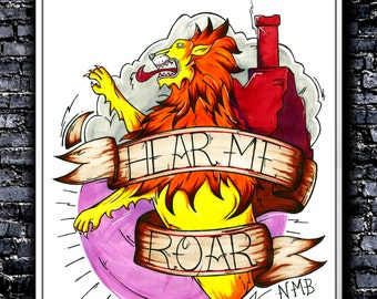Hear Me Roar - A4/A3 Signed Art Print (Inspired by Game of Thrones)