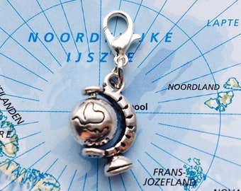 World globe charm - Mix & Match: Design your own charm bracelet!