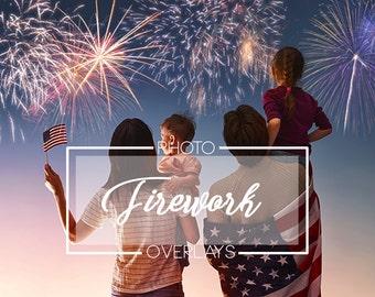 30 Firework photo overlays, holiday overlays