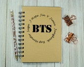 BTS (Bangtan Boys) Inspired Notebook/Journal