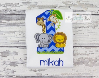Safari First Birthday Shirt/ Jungle Birthday Shirt/ Zoo Birthday Shirt/ Zoo Shirt/ Safari Shirt/ Animal Birthday