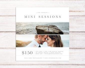 Spring Mini Session Marketing Board, Photography Marketing Template, Mini Session Template