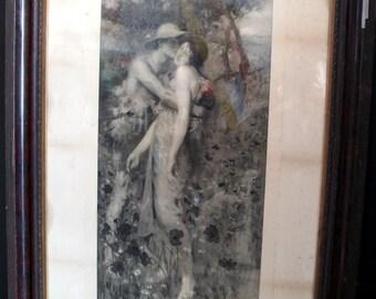 An Idyll by Maurice Greiffenhagen - Antique Framed Engraving Burlington Proof