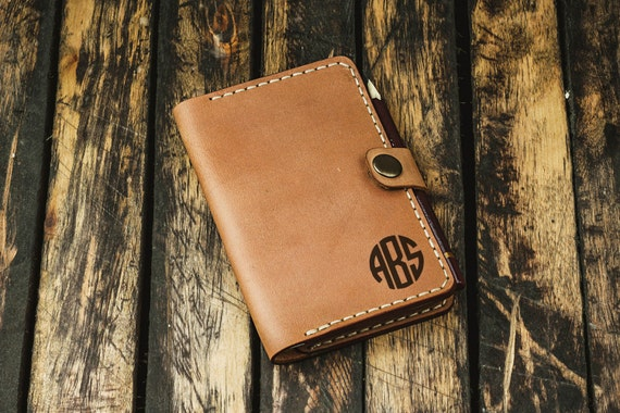 Personalized Field Notes cover - Field Notes cover - Field Notes leather cover - Custom Field Notes holder - Cardholder
