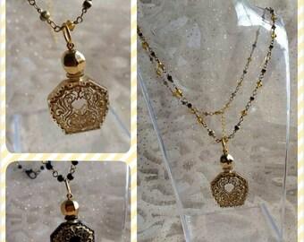 Vintage lucite perfume pendant necklace