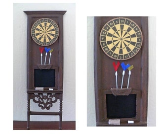 OOAK 1/12 scale miniature victorian dartboard cabinet for pub tavern scene