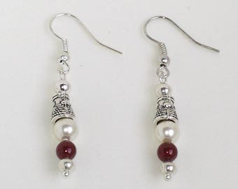 Vivienne silver plated swarovski pearl earrings