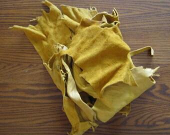 Scrap Buckskin Leather