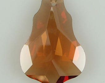 30mm faceted CZ cubic zirconia baroque pendant topaz 4884