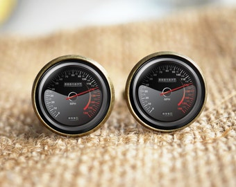Car Speedometer cuff links,Speedometer Cuff links,Trending Cuff links, Fun Gifts For Men Race Car, Car Cuff links, Car lover gift