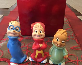 Vintage Rare 1990 Alvin And The Chipmunks Set With Theodore And Simon Great Condition