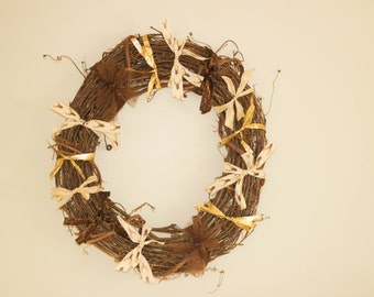 Reindeer Ribbon Christmas Wreath