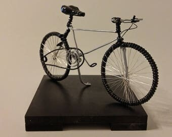 wire bicycles, handmade, artistic figure, miniature bicycle