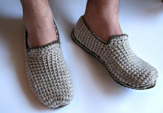Felt Soles Crochet Slippers Mens Slippers Men Loafers House Hot Sale