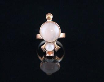 Rose Quartz and Copper Bug Ring (6)