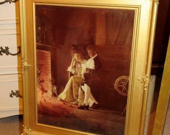 Edwardian Framed Photo/Print, c1904;Edwardian Picture