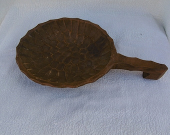 Vintage Old Large AntiqueWooden Spoon Antique Scoop Large Wooden Store Ladle for Grains Great Handmade 1 Piece Wood Natural wood Hand Carv