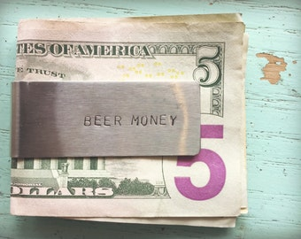 "Stainless Steel ""Beer-Money"" Clip"